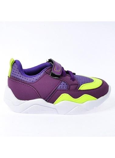 Kiko Kids Kiko S19 Günlük Fileli Cırtlı Kız/Erkek Çocuk Spor Ayakkabı Mor